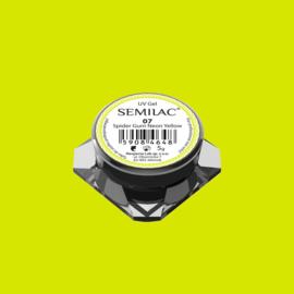 Semilac Spider Gum Gel 07 Neon Yellow