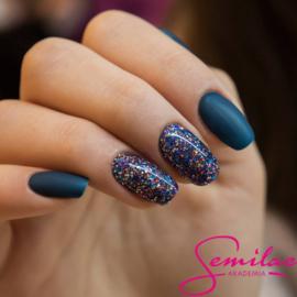 Semilac inspiratie; Blue Glitter