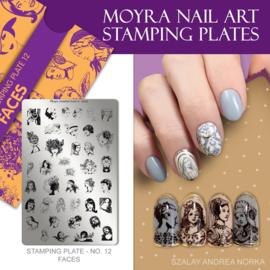 Moyra Stempel Plaat 12 Faces
