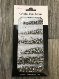 Crystal steentjes antraciet 02 1728st.