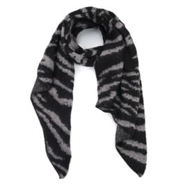 Sjaal zebra print - Grey