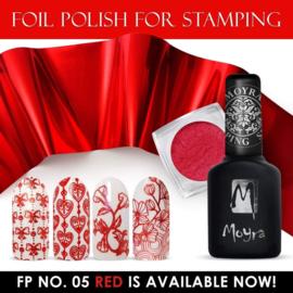 Moyra Stempel Folie Nagellak fp05 Red