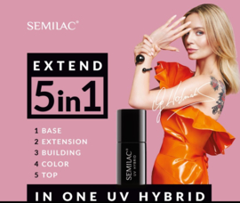 Semilac Extend 5 in 1 801 Soft Beige (rubber base) 7ml