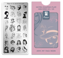 Moyra Mini Stempel Plaat 125 Join My Face Book