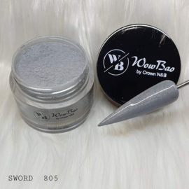 WowBao Nails acryl poeder Shimmer nr 805 Sword 28g