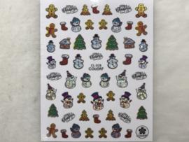 Nagelsticker Kerst CL-028