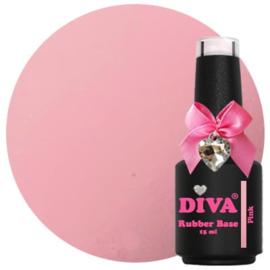 Diva Gellak Rubber Base Coat Pink 15 ml