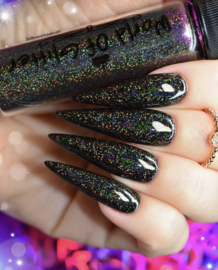 World of Glitter - Transylvania Black Supercharged Holographic Nail Glitter