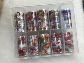 10 m Transfer folies in een box Kerst 01