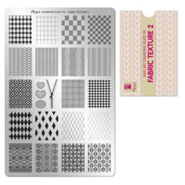 Moyra Stempel Plaat 99 Fabric Texture 2
