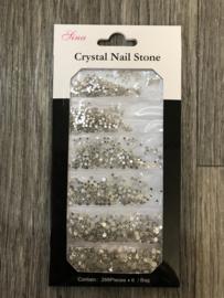 Crystal steentjes zilver 03 1728st.