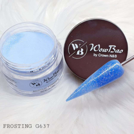 WowBao Nails acryl poeder Glitter nr G637 Frosting 28g