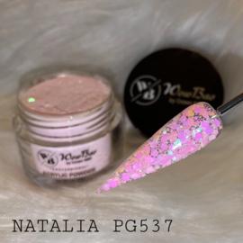 WowBao Nails glitter acryl poeder nr PG537 Natalia 28g