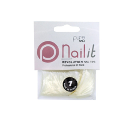 Pure Nails Tips Natural Half Well Revolution Refill 50st.