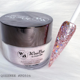 WowBao Nails acryl poeder Premium Glitter nr PG506 Queenee 28g
