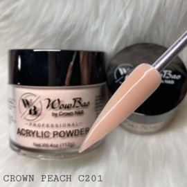 WowBao Nails acryl poeder 201 Crown Peach 56g