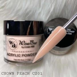 WowBao Nails acryl poeder 201 Crown Peach 56g