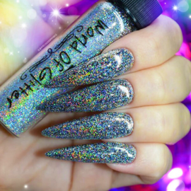 World of Glitter - London Silver Supercharged Holographic Nail Glitter