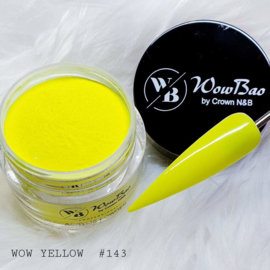WowBao Nails acryl poeder nr 143 WOW Yellow 28g