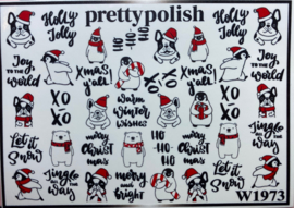 Pretty Polish | Slider | Waterdecal W1973 - Kerst