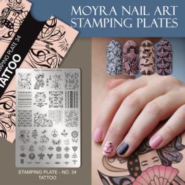 Moyra Stempel Plaat 34 Tattoo