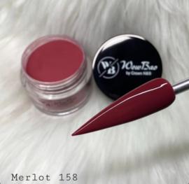 WowBao Nails acryl poeder color nr 158 Merlot 28g
