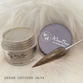 WowBao Nails acryl poeder Glitter nr G694 Dream Catcher 28g
