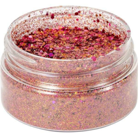 Cosmic Shimmer Holographic Glitterbitz Coral Red 25ml