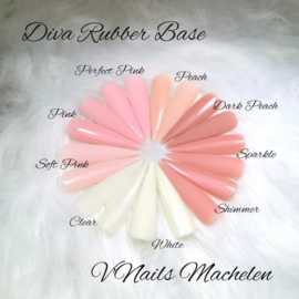 Diva Gellak Rubber Base Coat Dark Peach 15 ml