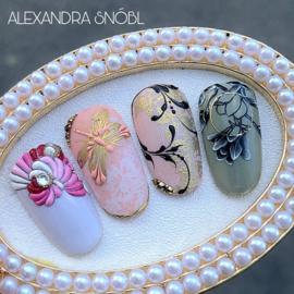 1-Daagse Cursus Stamping/Painting Mix met Alexandra Snóbl op 2  November €175,00 ex.btw