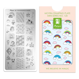 Moyra Mini Stempel Plaat 120 We Believe In Magic