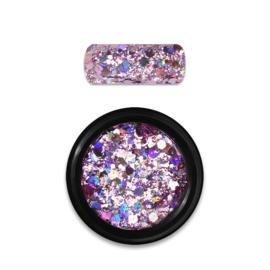 Moyra Rainbow Holo Glitter Mix Rose 03