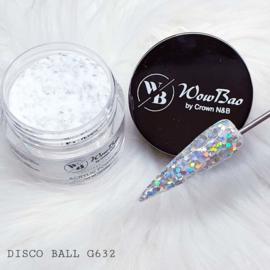 WowBao Nails acryl poeder Glitter nr G632 Disco Ball 28g