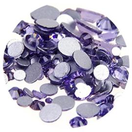 Metoe Nails Crystal Facet Lavendel Strass steentjes