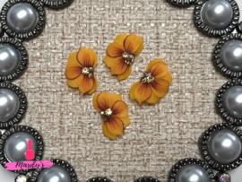 3D nailart bloem acryl 11 oranje