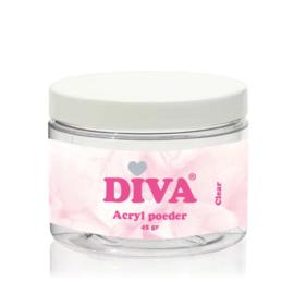 Diva Acryl Poeder Clear 45 gram