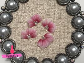 3D nailart bloem acryl 24 roze