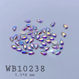 WowBao Nails Wow Crystals PEAR DROPS AB  50st.