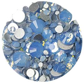 Metoe Nails Crystal Milk Diamond Blue steentjes