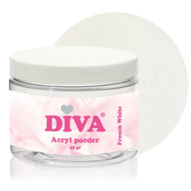 Diva Acryl Poeder French White 45 gram