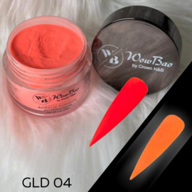 WowBao Nails acryl poeder color glow in the dark GLD04 28g