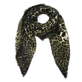 Sjaal luipaard print groen