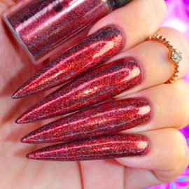 World of Glitter - Galaxy Red Holographic Chrome Dust