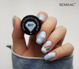 Semilac Extend 5 in 1 807 Pastel Blue (rubber base)  7ml