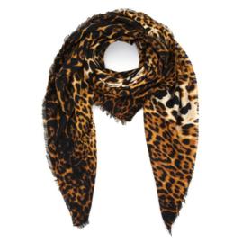 Sjaal luipaard print bruin