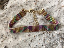 Handgemaakt Ibiza armbandje Color Patchwork