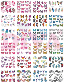Diva Waterdecals Butterfly - 24 sheets