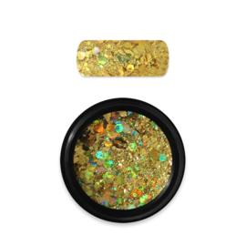 Moyra Rainbow Holo Glitter Mix Dark Gold 07