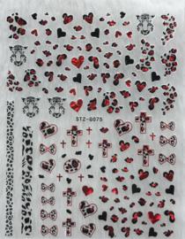 Nagelsticker Valentijn G075