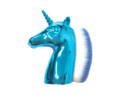 Stofkwast Unicorn blauw